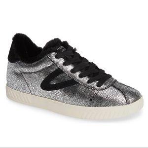 Tretorn Callie 4 Metallic Sneaker Faux Fur Lined 8